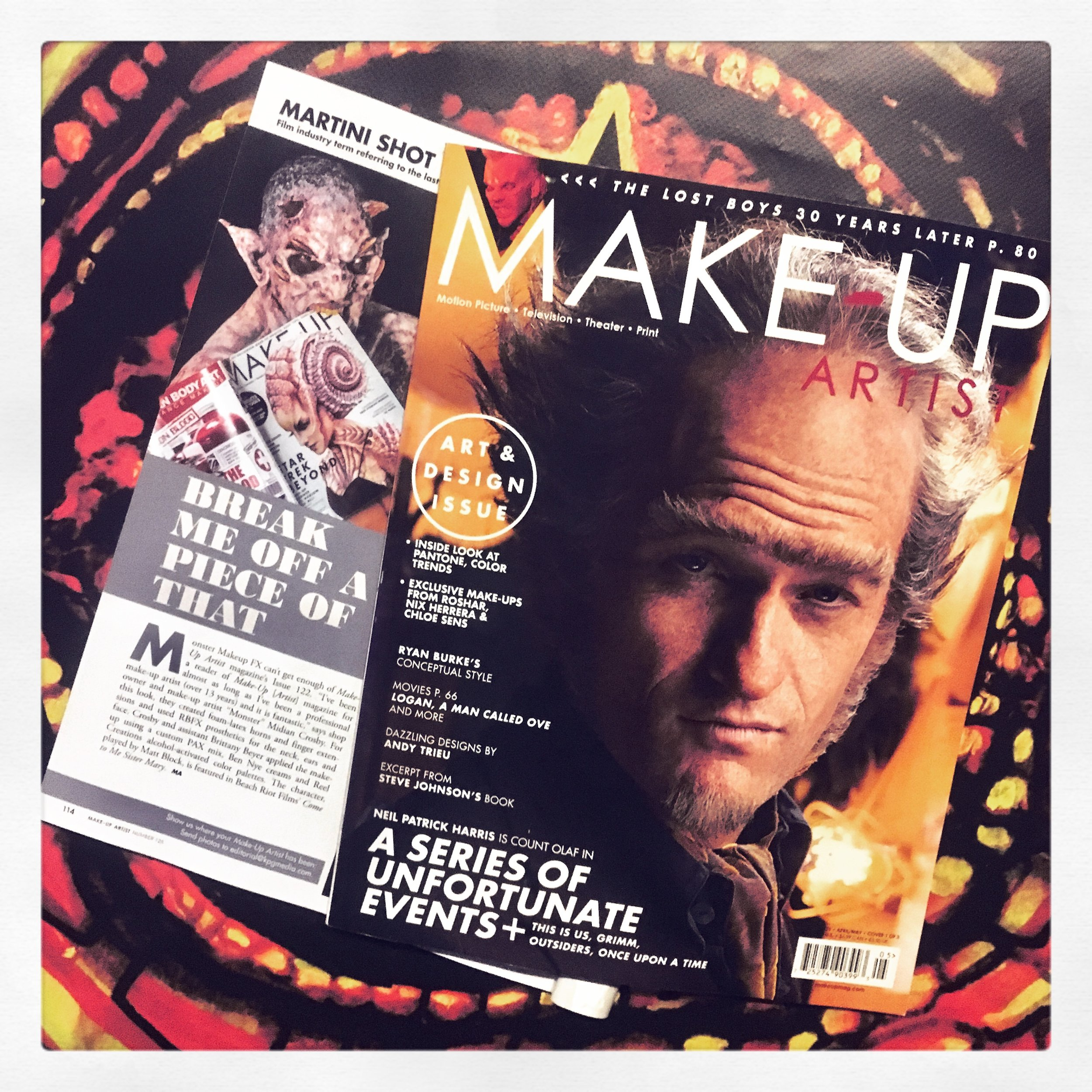 Monster Makeup FX in Makeup Artist Magazine March 2017.jpg