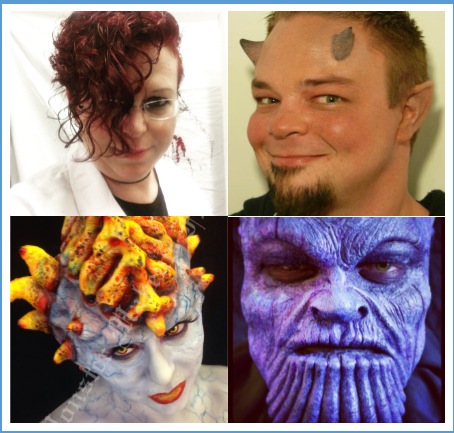 Midian and Joshua in and out of special effects makeup...mostly.