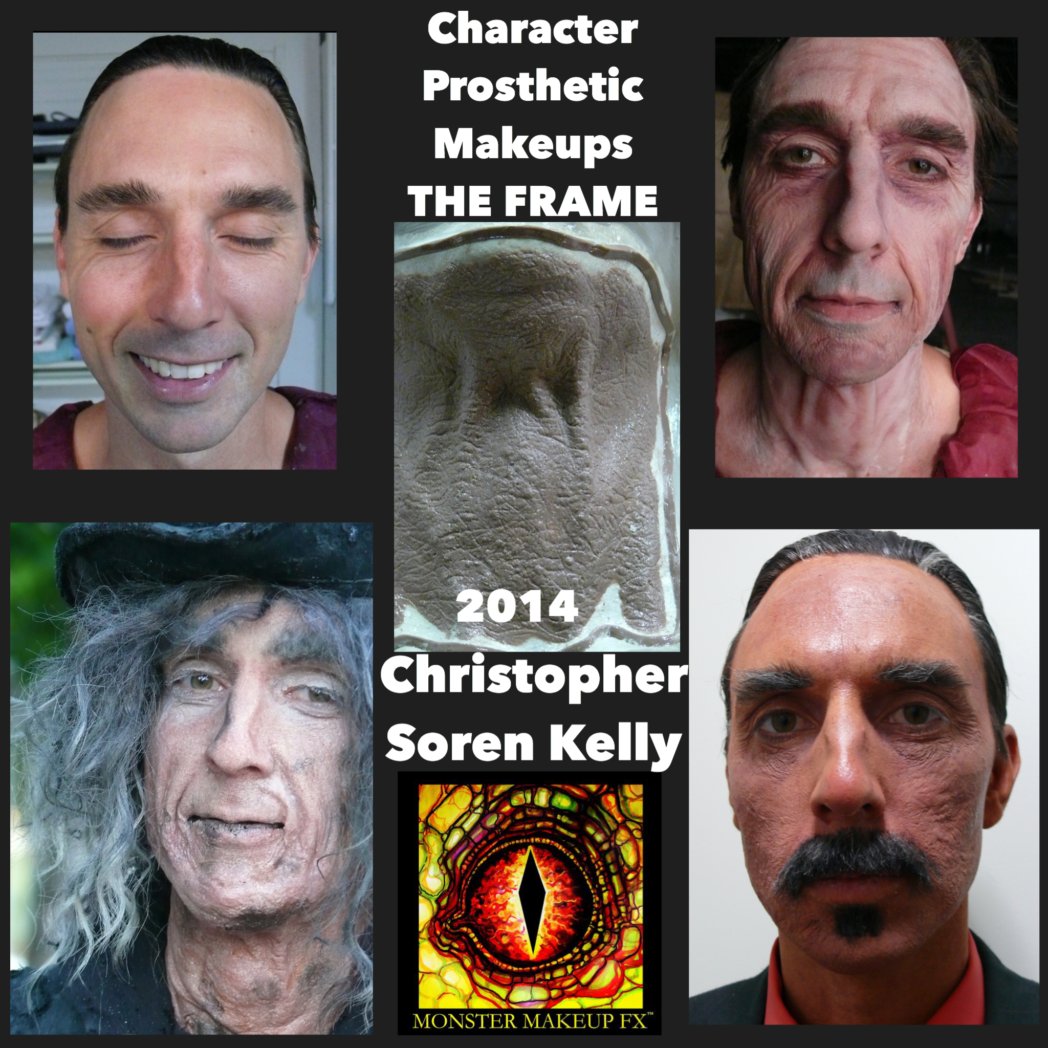 Monster Makeup FX The Frame Chris Kelley Special Effects Makeup Transformation Collage.JPG