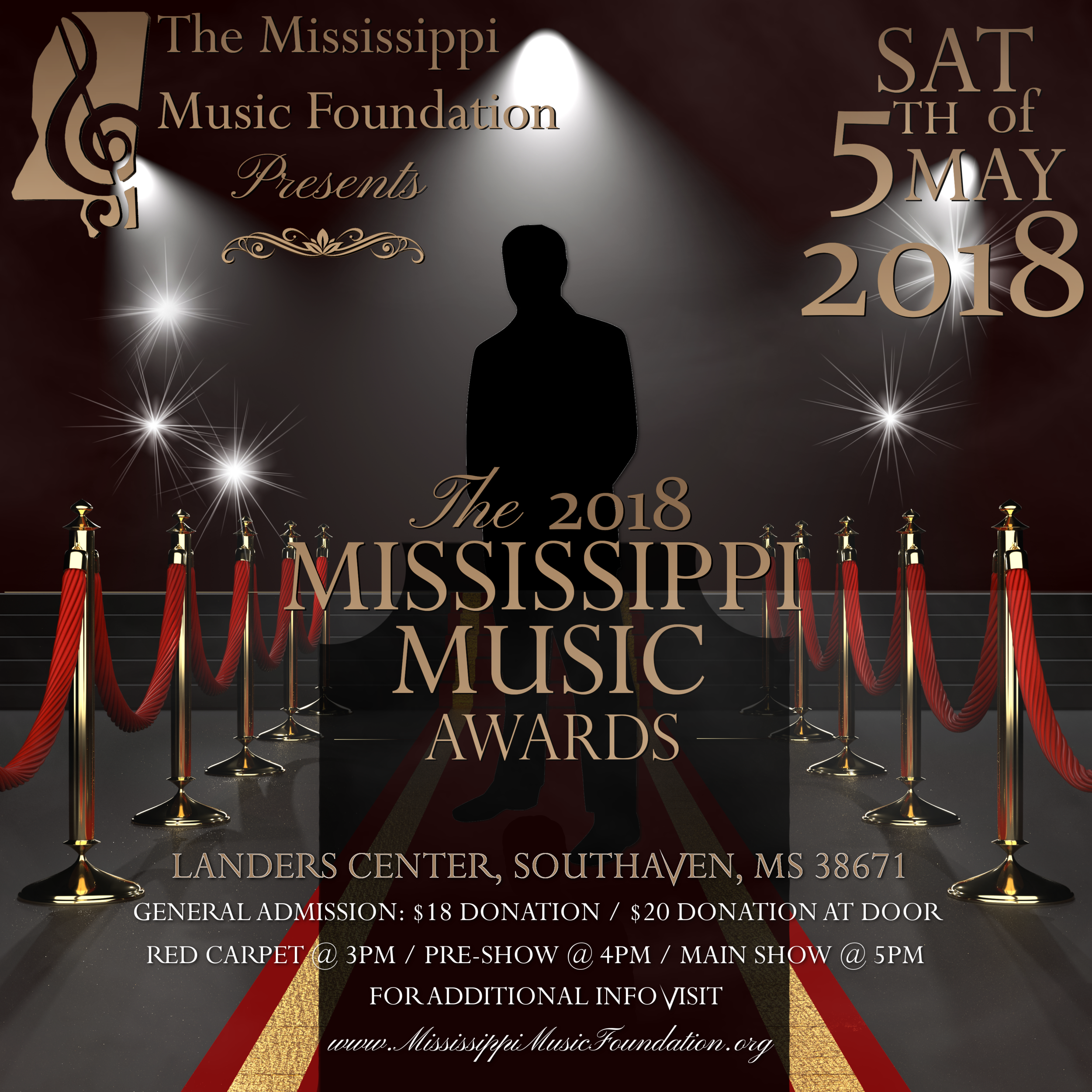 Mississippi Music Foundation (Red Carpet with Ropes) Flyer 2018.png