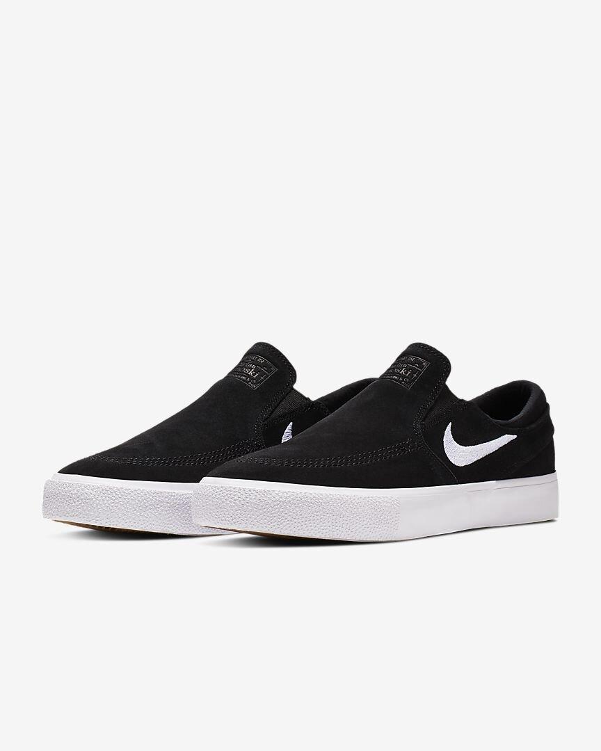 Nacarado Jugar juegos de computadora Petrificar  Nike SB Zoom Janoski Slip RM (Black/White/White) — Skate Supply