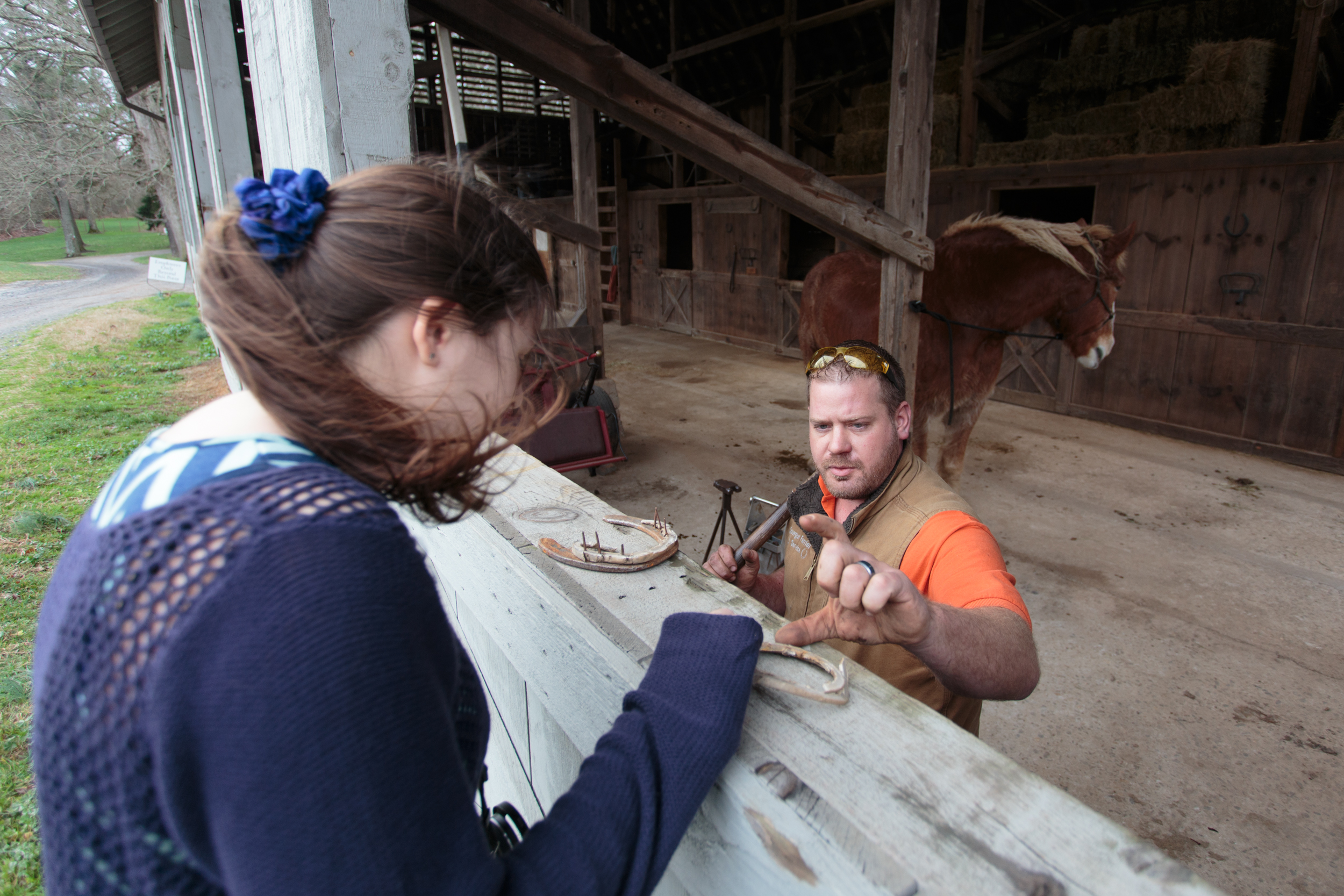 We chatted with a horse caretaker, educating us on how to replace horseshoes.