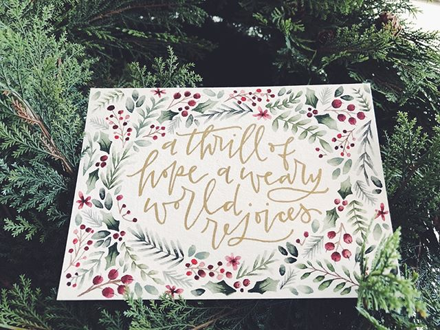 as I'm reading through an advent study this season, I'm reminded of our DEEP need for the savior who came to seek and save a sinner like me. let's REJOICE as we remember the true meaning of Christmas this year! . . . . . . . #handlettering #moderncalligraphy #floral #christmas #advent #happyholidays #merrychristmas #art #watercolor