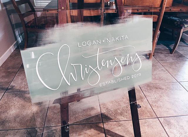 this couple is about to get married in the dreamiest of venues. can't wait to see the photos!! . . . . . . . #thewhitesparrow #wedding #weddingsignage #signage #handlettering #moderncalligraphy