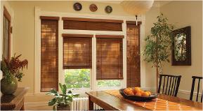 Wood + Faux Blinds -