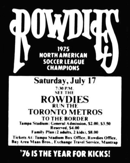 1976 Rowdies vs Toronto Metros Poster.jpg