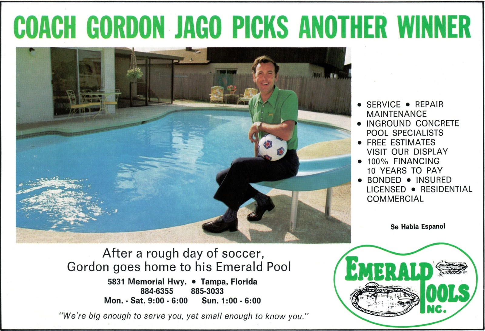 1979 Gordon Jago Emerald Pool Advert.jpg