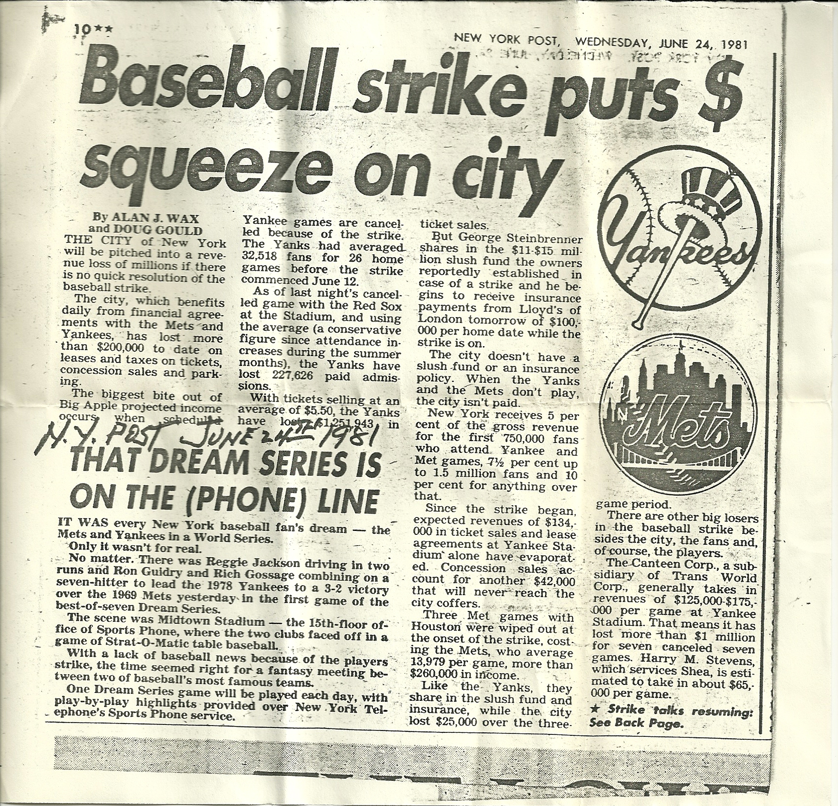 6.24.1981.+New+York+Post.++Baseball+Strike+Puts+$+Squeeze+on+City.jpg