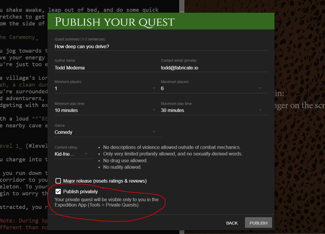 expedition-publish-private-quest