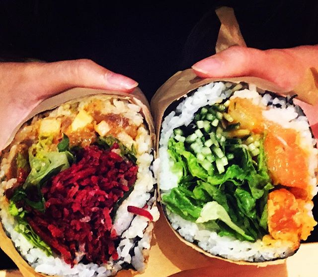 Lunch date at UrbanSpace calls for sushi burritos #sushi #yum