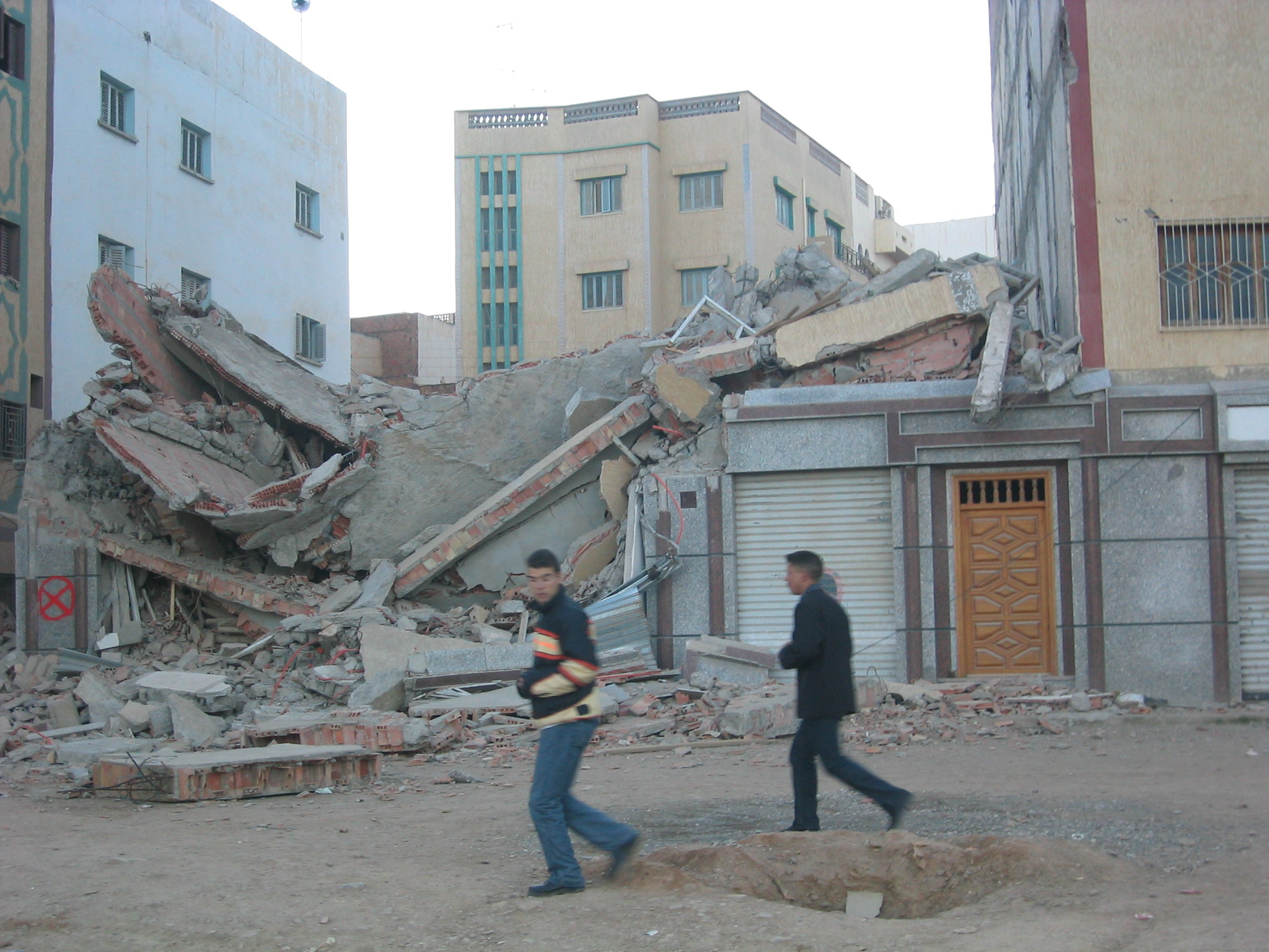 After the 2004 earthquake in Al Hoceima, Morocco