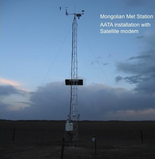 Satellite linked met station in Southern Gobi, Mongolia.