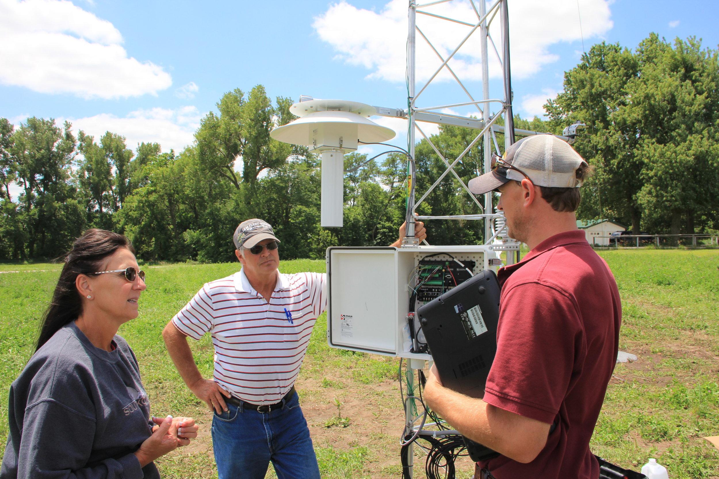 High tech, solar powered, met station installation and training,Southeast Nebraska, USA