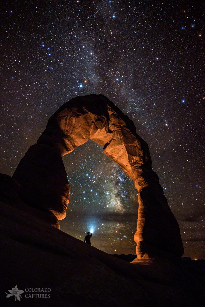 Milky Way Illumination At Delicate Arch