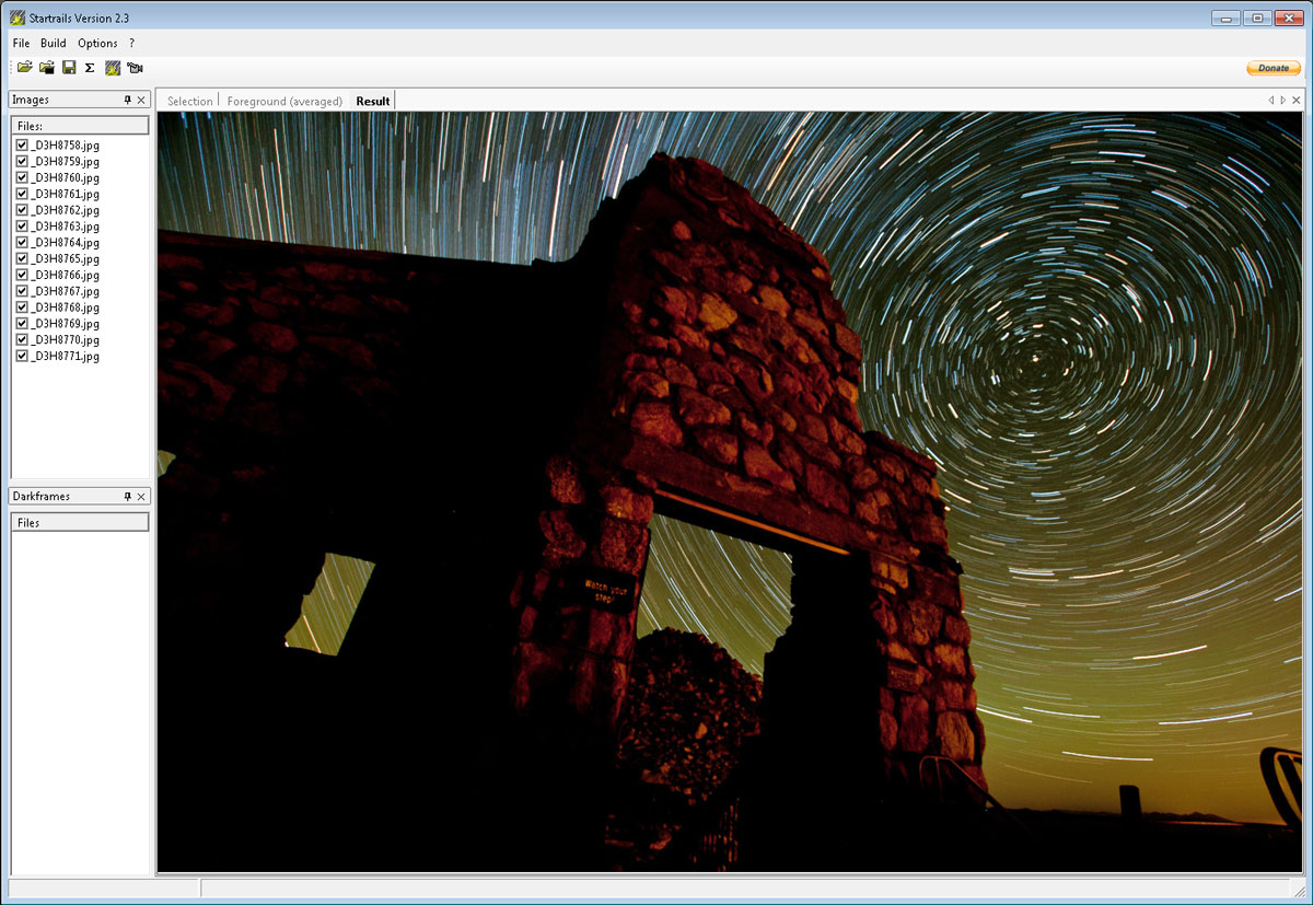 Watch Your Step Stacking In Star Trails Standalone Application
