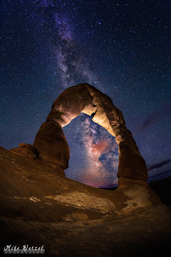 Milky Way Through Delicate Arch