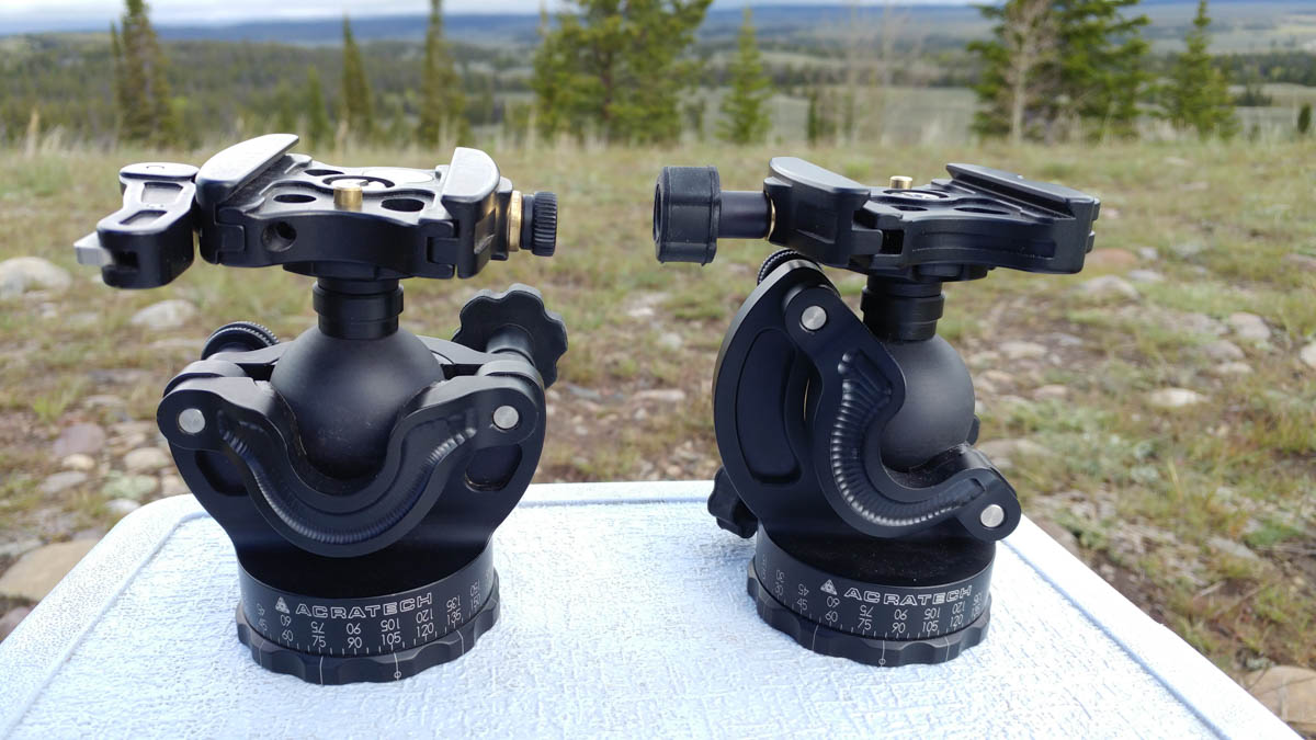 GP Ballhead (left) and Ultimate GP Ballhead (right)