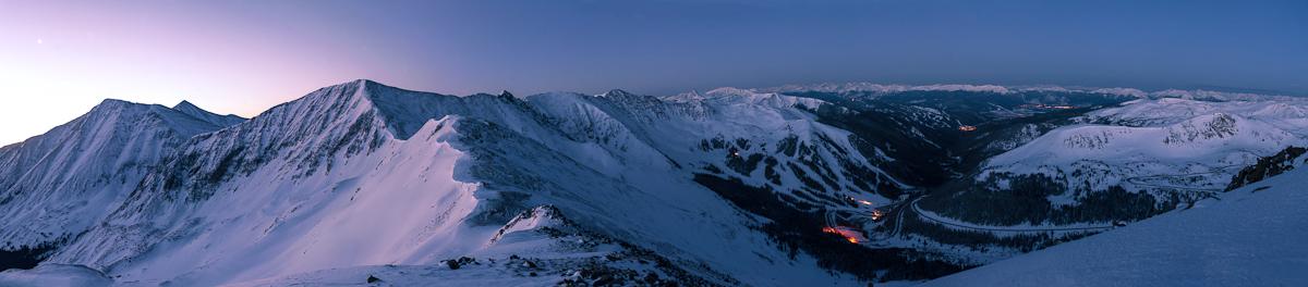 """High Country Twilight Panorama"" - Near Loveland Pass, Colorado"