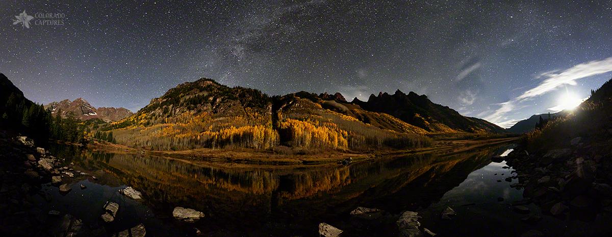 """Maroon Lake Milky Way Panorama"" - Near Aspen, Colorado"