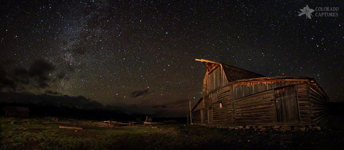 """Moulton Barn Milky Way Panorama"" - Grand Teton National Park, Wyoming"