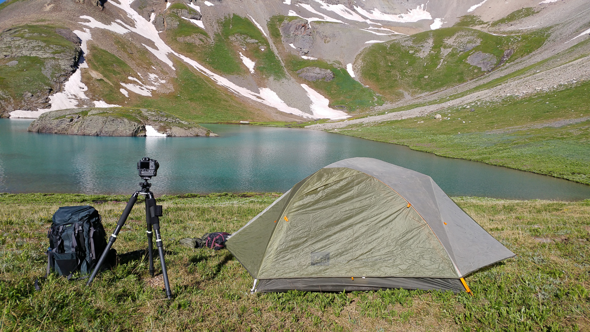 Tent camping at Island Lake near Silverton, Colorado with the Rotation180° Professional 38L from MindShift Gear