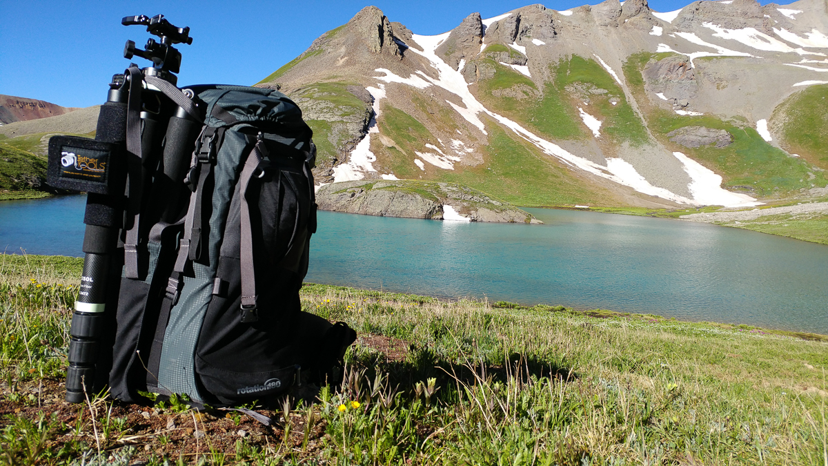 The Rotation180° handles some quick morning photography after an overnight at Island Lake near Silverton, Colorado.