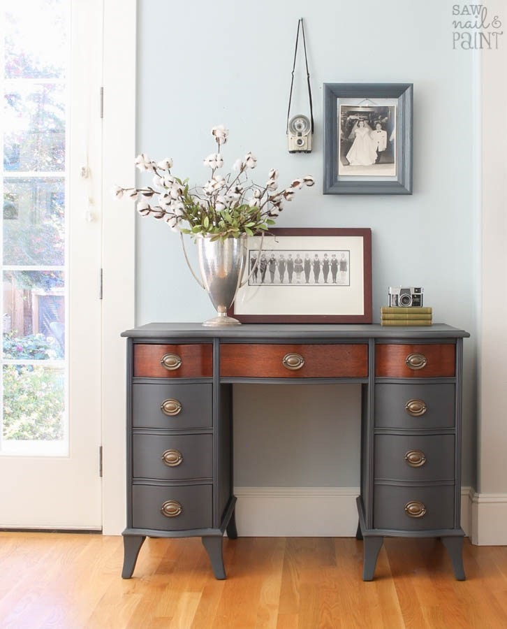 Desk Makeover by Saw, Nail and Paint owner, Susan Handler