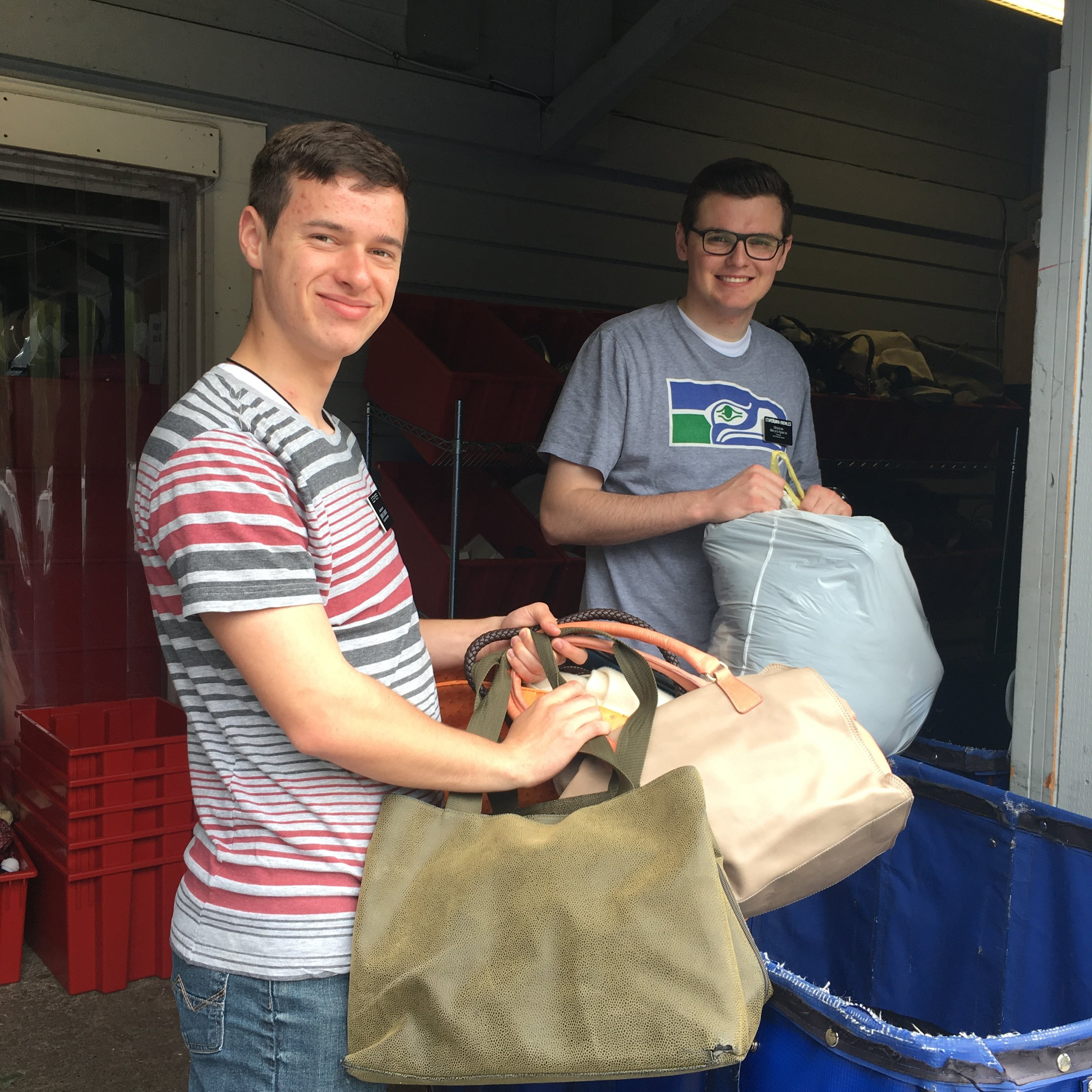 LDS Church:  Mercer Island's local LDS church places a high value on making a contribution to the well being of our community through volunteering. Over a period of several months their Elders rotate covering our donation center every Wednesday in two 4-hour shifts.