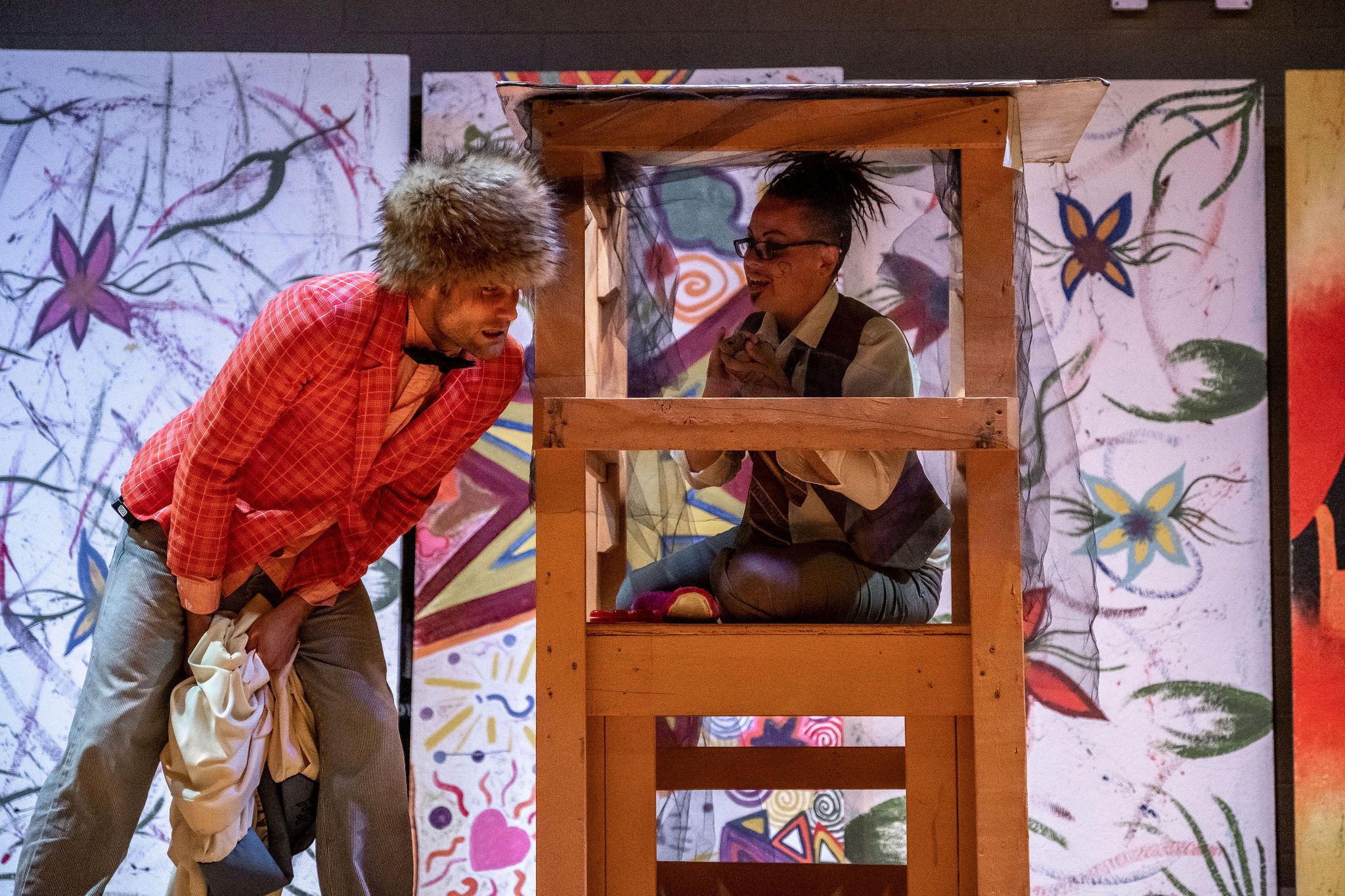Matthew (as Feste) with Malvolio in  Twelfth Night .