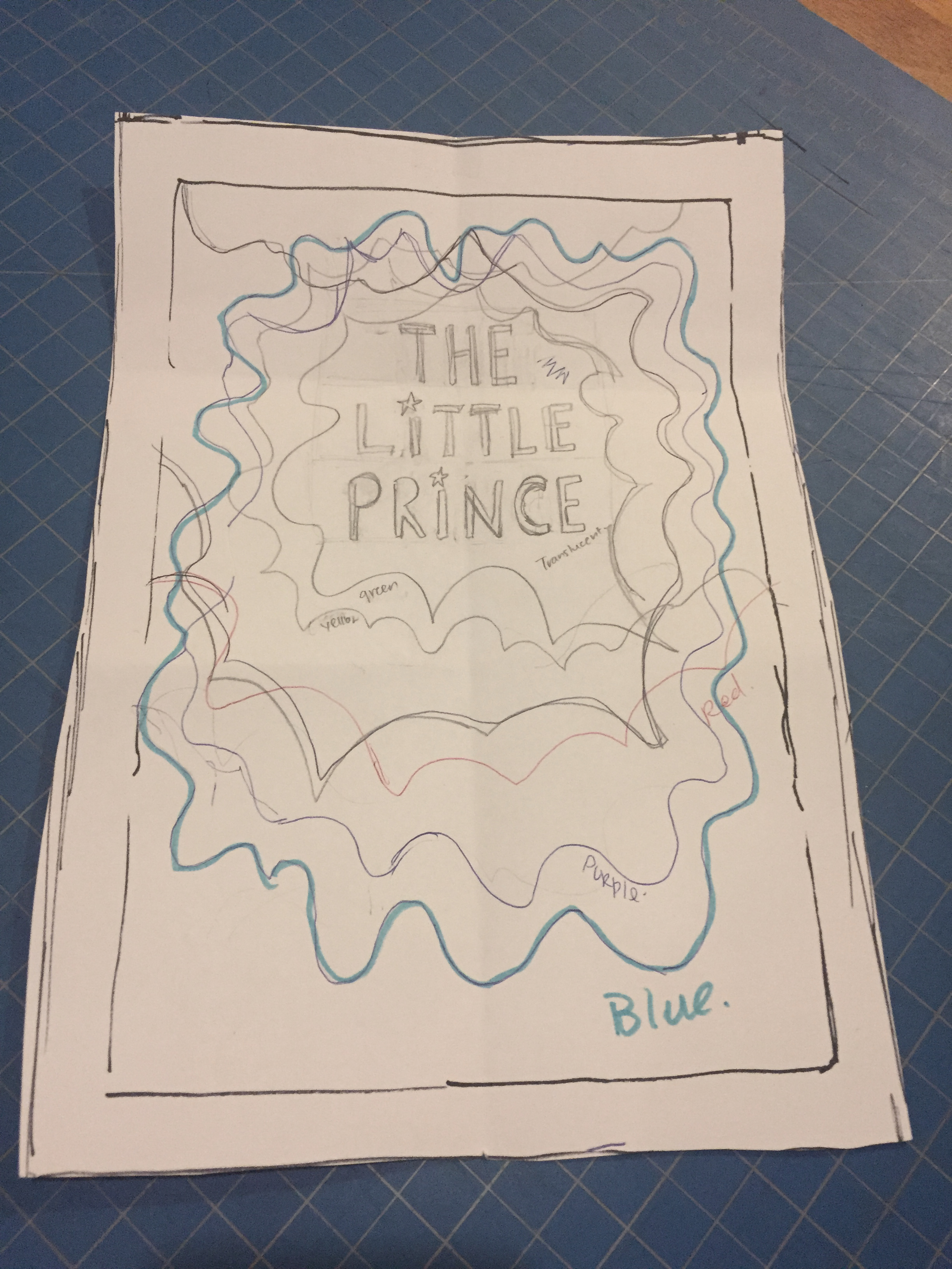 Book cover blueprint to cut with an X-ACTO knife
