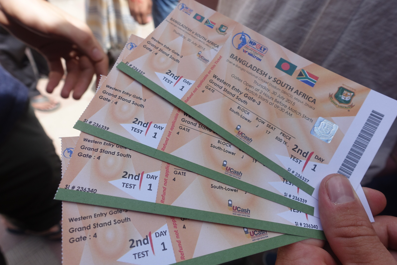 VIP Tickets to the Bangladesh vs. South Africa cricket match