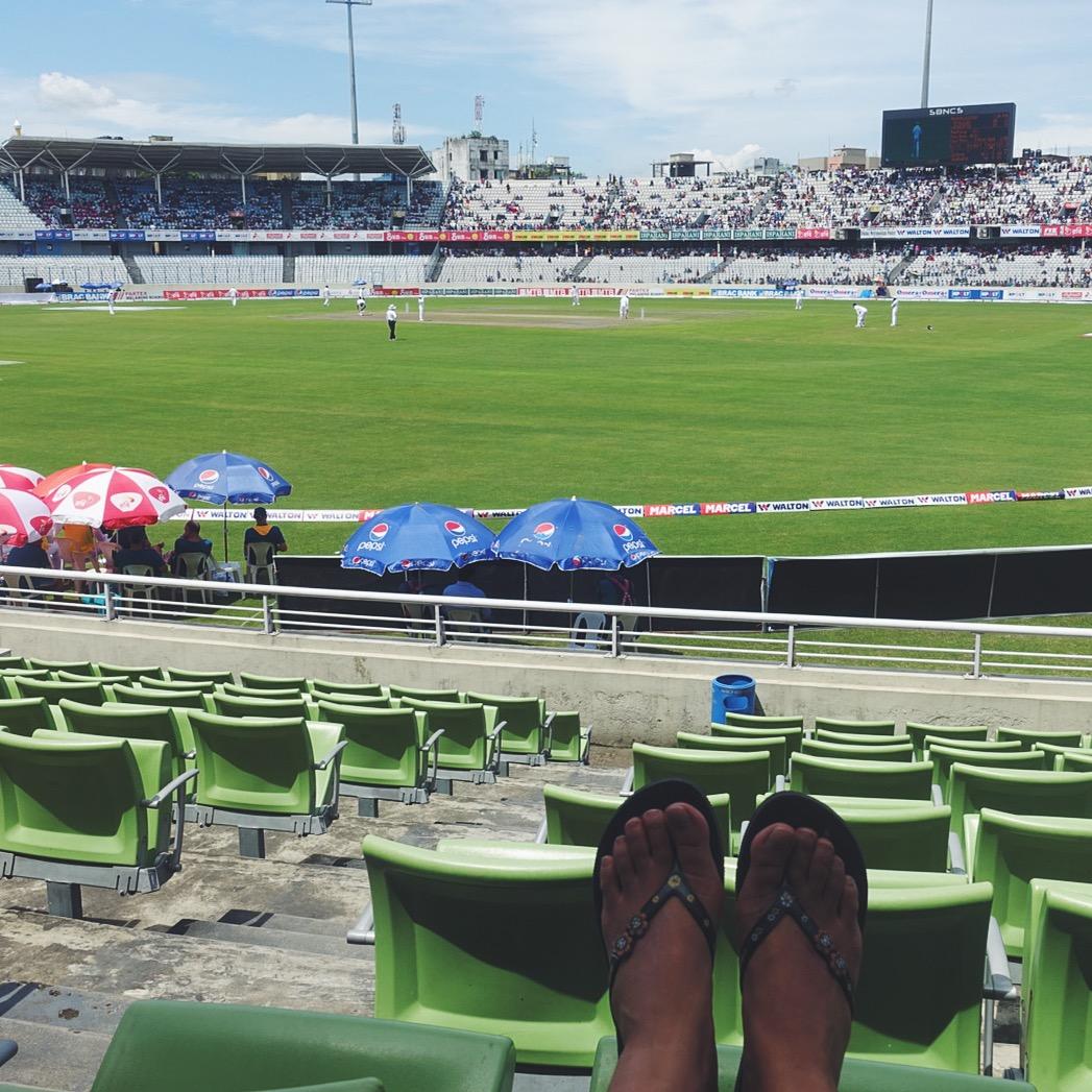 Lush cricket ground