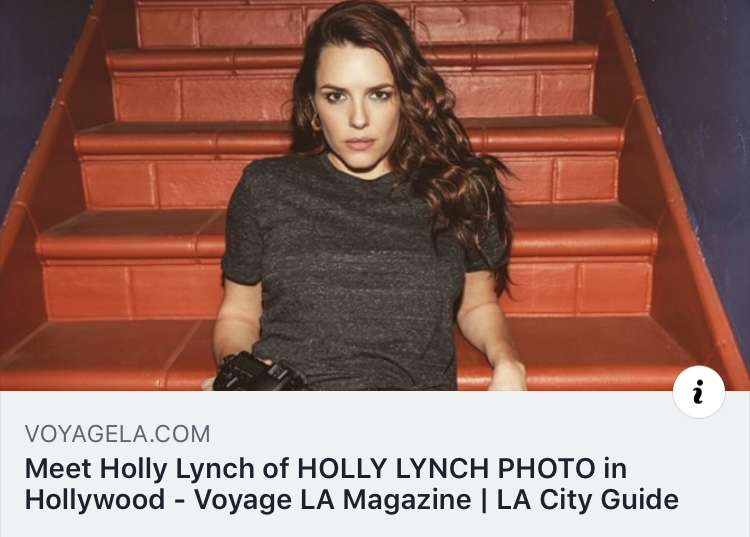 TO READ THE ARTICLE CLICK ON THIS LINK-   http://voyagela.com/interview/meet-holly-lynch-photo-hollywood/?fbclid=IwAR2Ue32DoSfc4shxa-umjkfCUZblp589Cd23Sx0jEEyuu_5iQLU90UHW-LU
