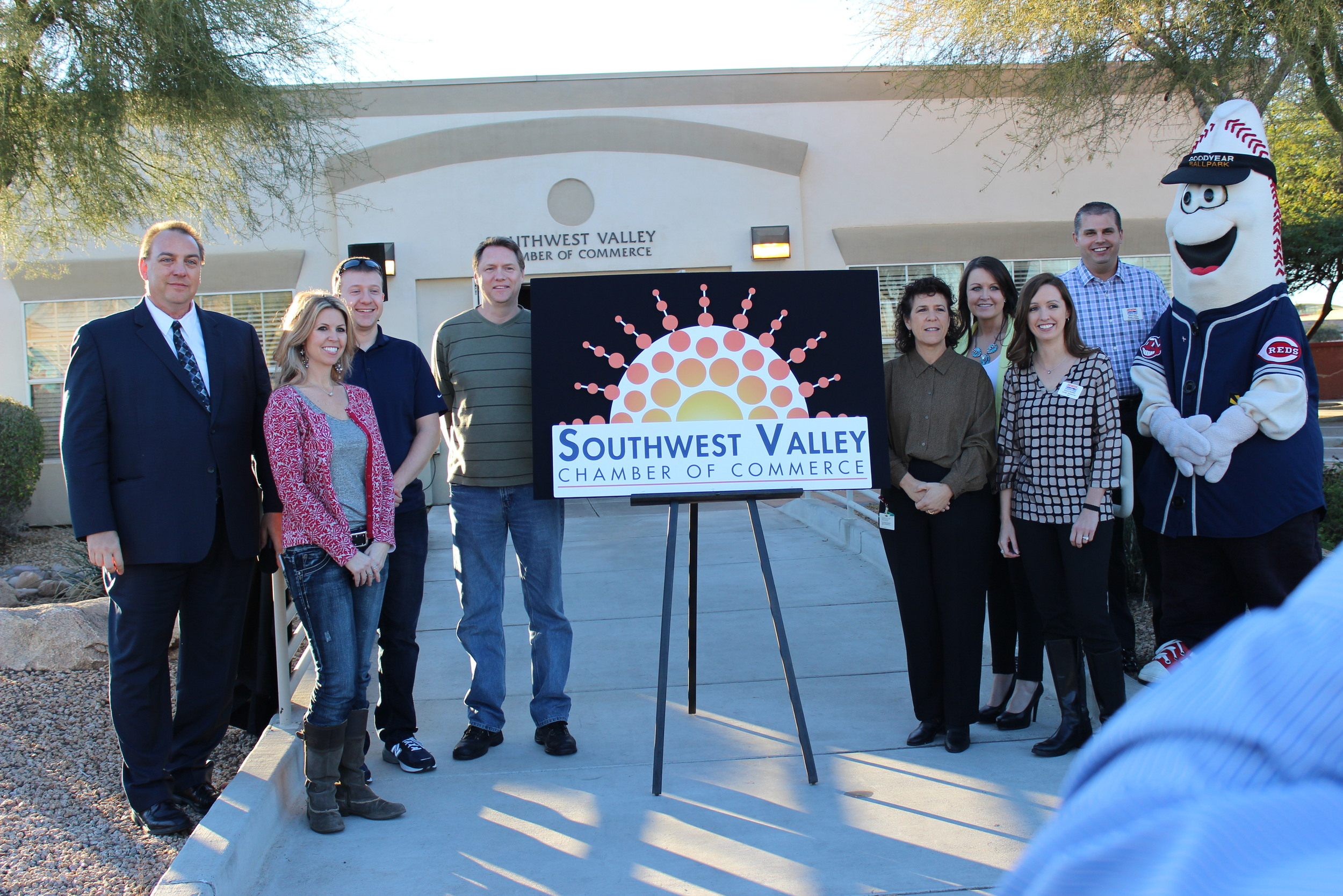 Unveiling of the new Southwest Valley Chamber of Commerce Logo