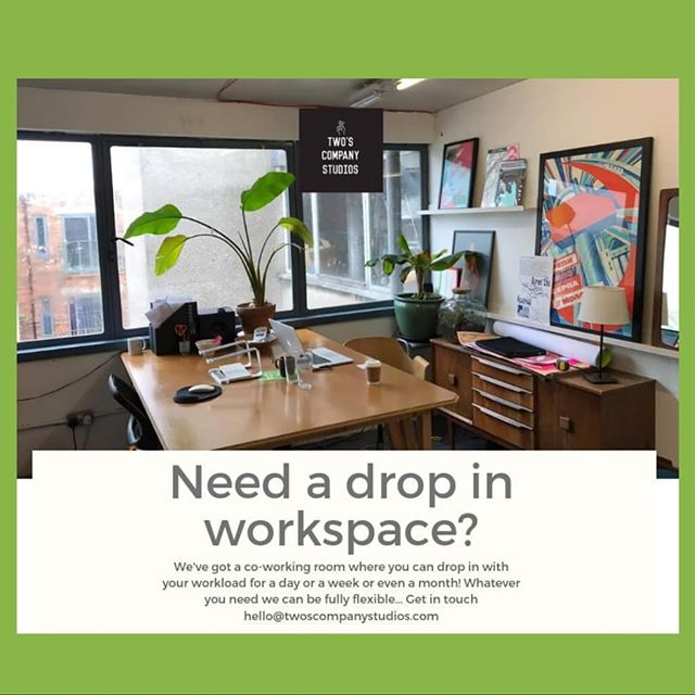 Need somewhere to crack on and get your work done? 🌿  We've got a light, airy, plant-filled room that is ready for you to drop in and out of! Whether it's a day, a week or even a month you need, we can help. Ideal for computer-based folks such as graphic designers or illustrators.  Day rates- £5 per day Weekly rates- £30 per week  Get in touch! 👋
