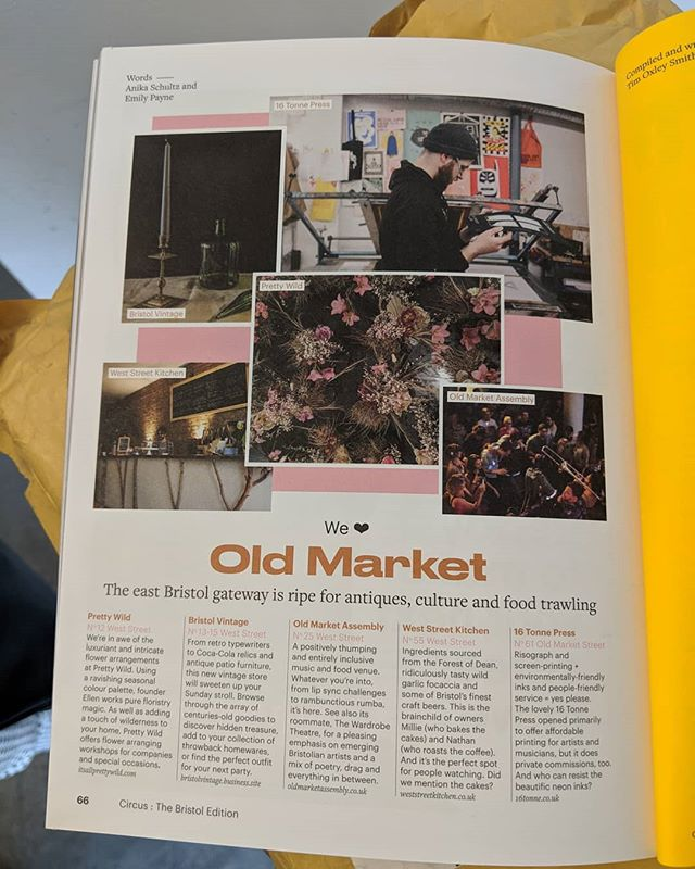 Oh so do we @circusjournal !  We're loving the Bristol edition of Circus Journal, especially with the Old Market loving! Featuring our very own @16tonne and @thediysupermarket 💪  The spotlight on The DIY Supermarket let's you into a little secret coming VERY soon...