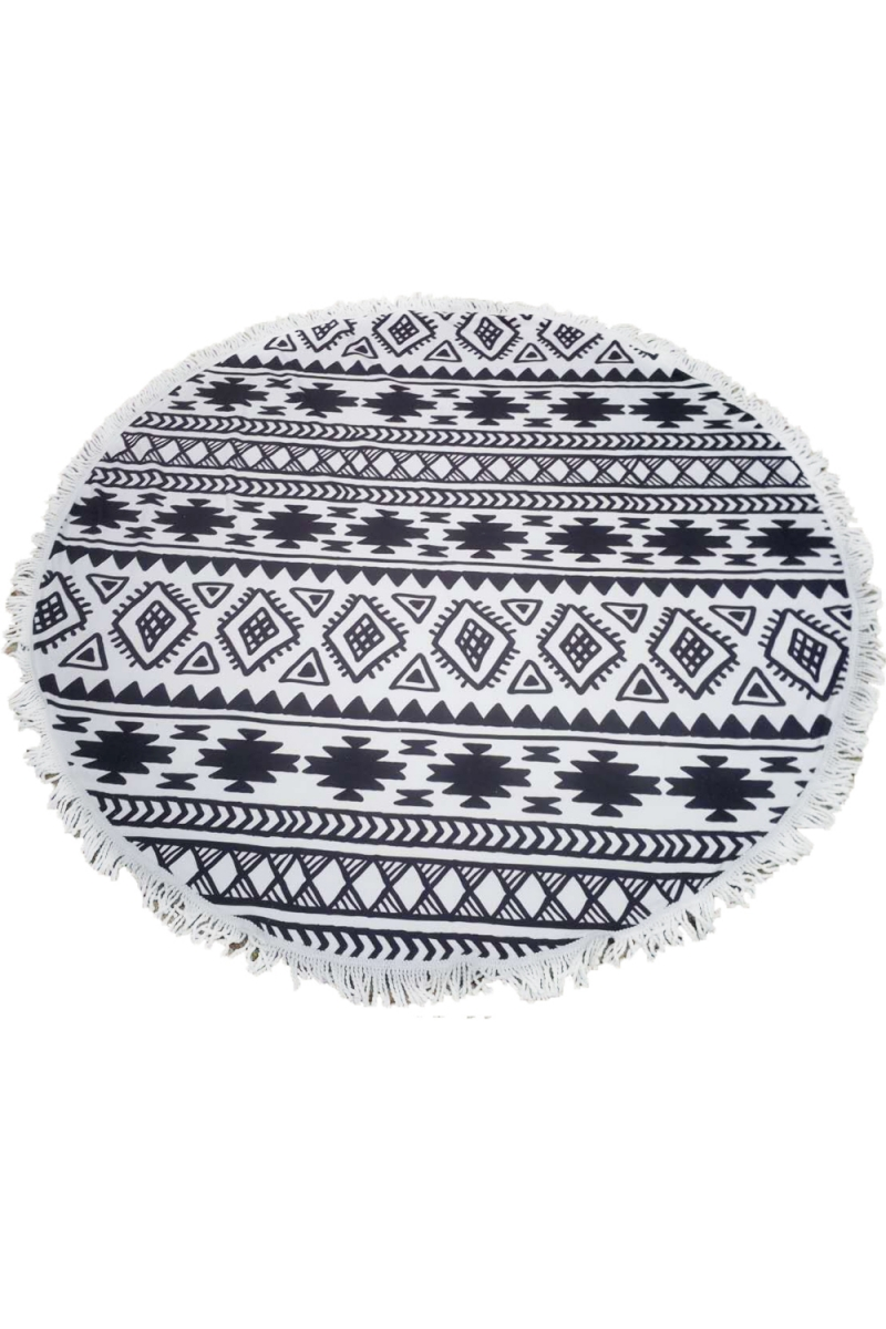 serviette ronde mandala