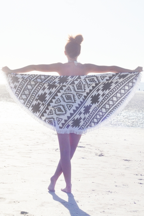 serviette ronde azteque