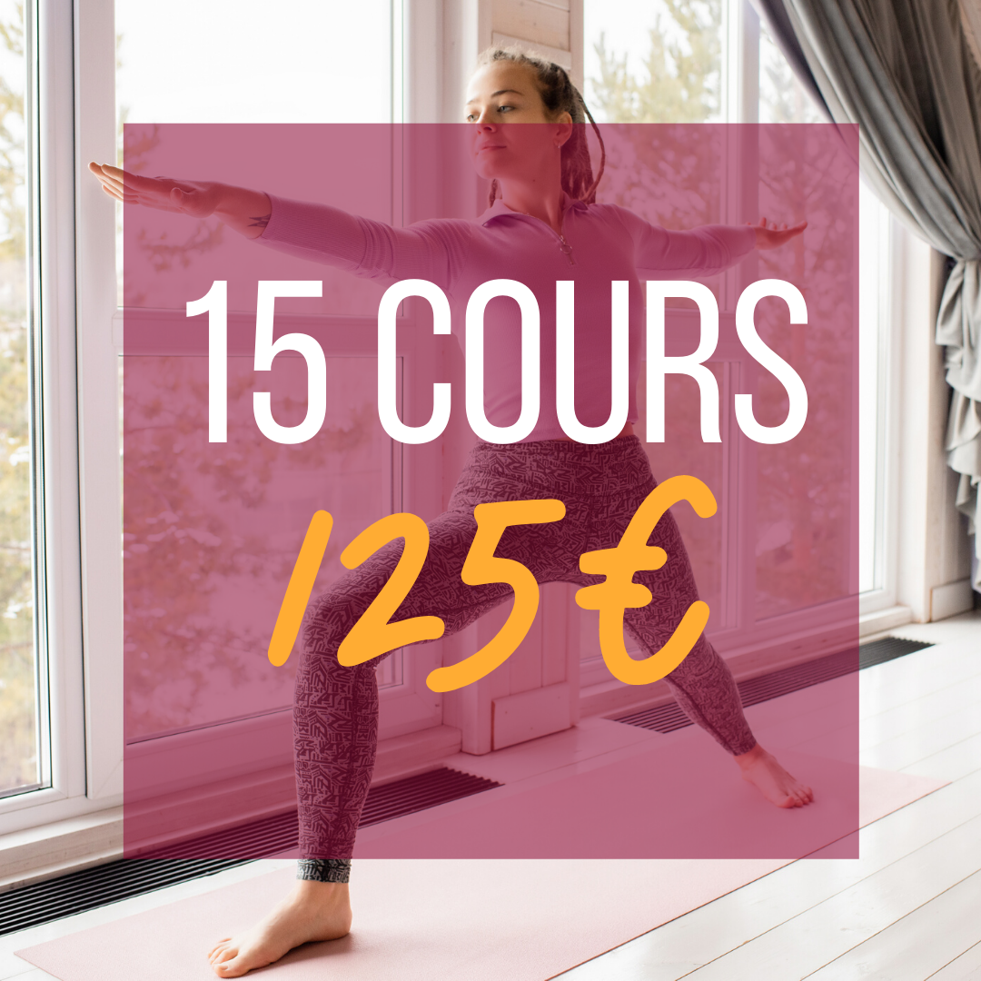 15 COURS =  125€    💥 Soit  8,3€ le cours  ! 📆 Valable  3 mois