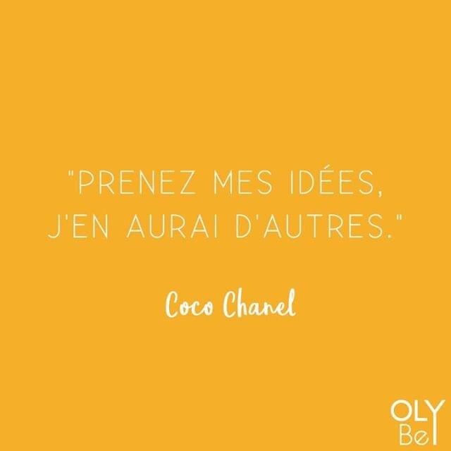 Soyez fiers de vos idées et parlez-en autour de vous ! 😍  #olybe  #chanel #quote #style #quoteoftheday #inspiration #love #quotes #coco #qotd #instagood #lifestyle #beyourself #inspirationalquotes