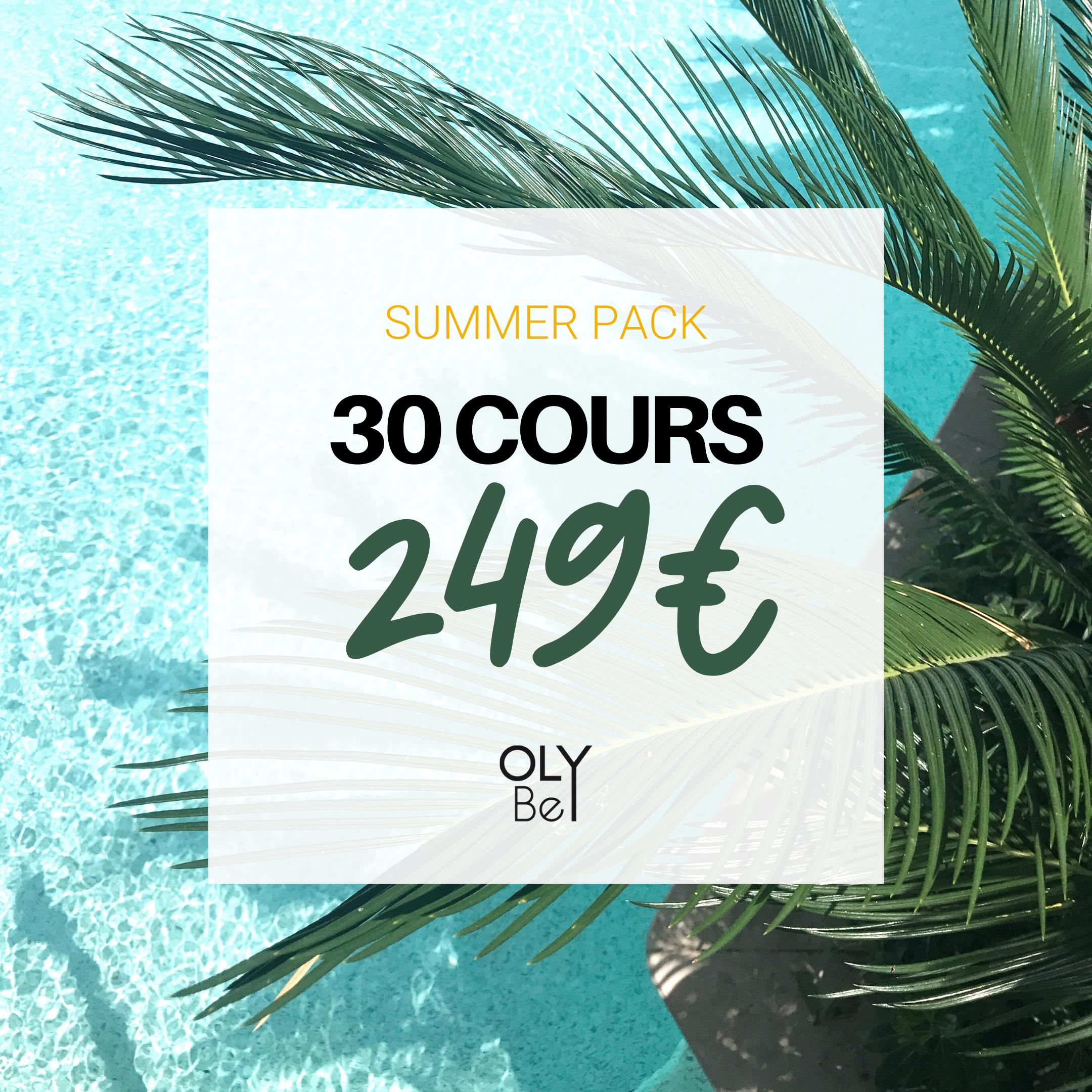 30 COURS =  249€   💥 Soit  8,3€ le cours !  📆 Valable  12 mois