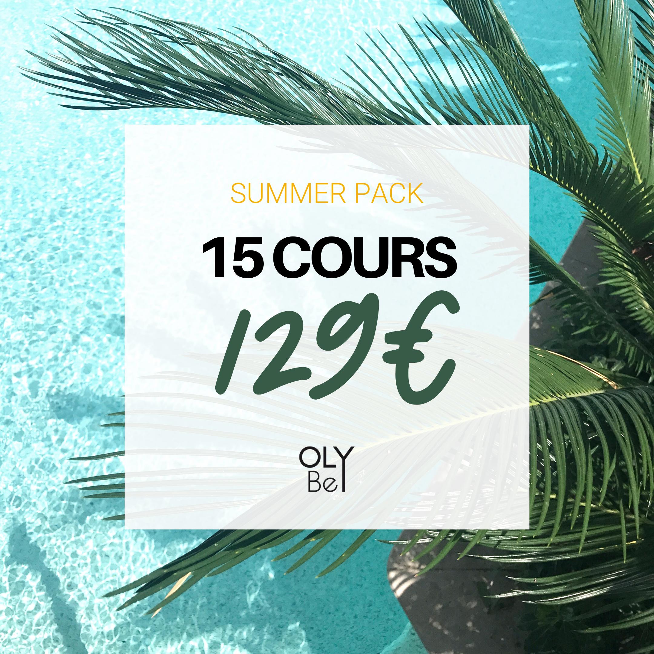 15 COURS =  129€   💥 Soit  8,6€ le cours  ! 📆 Valable  6 mois