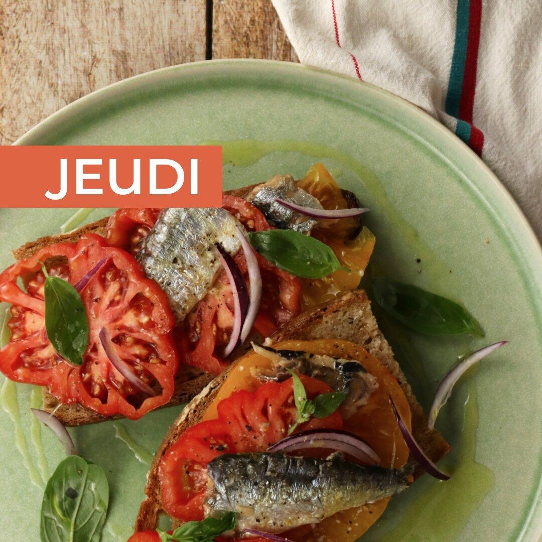 Bruschetta tomate & sardine - Votre dose d'Omega-3 sur une tranche de pain !