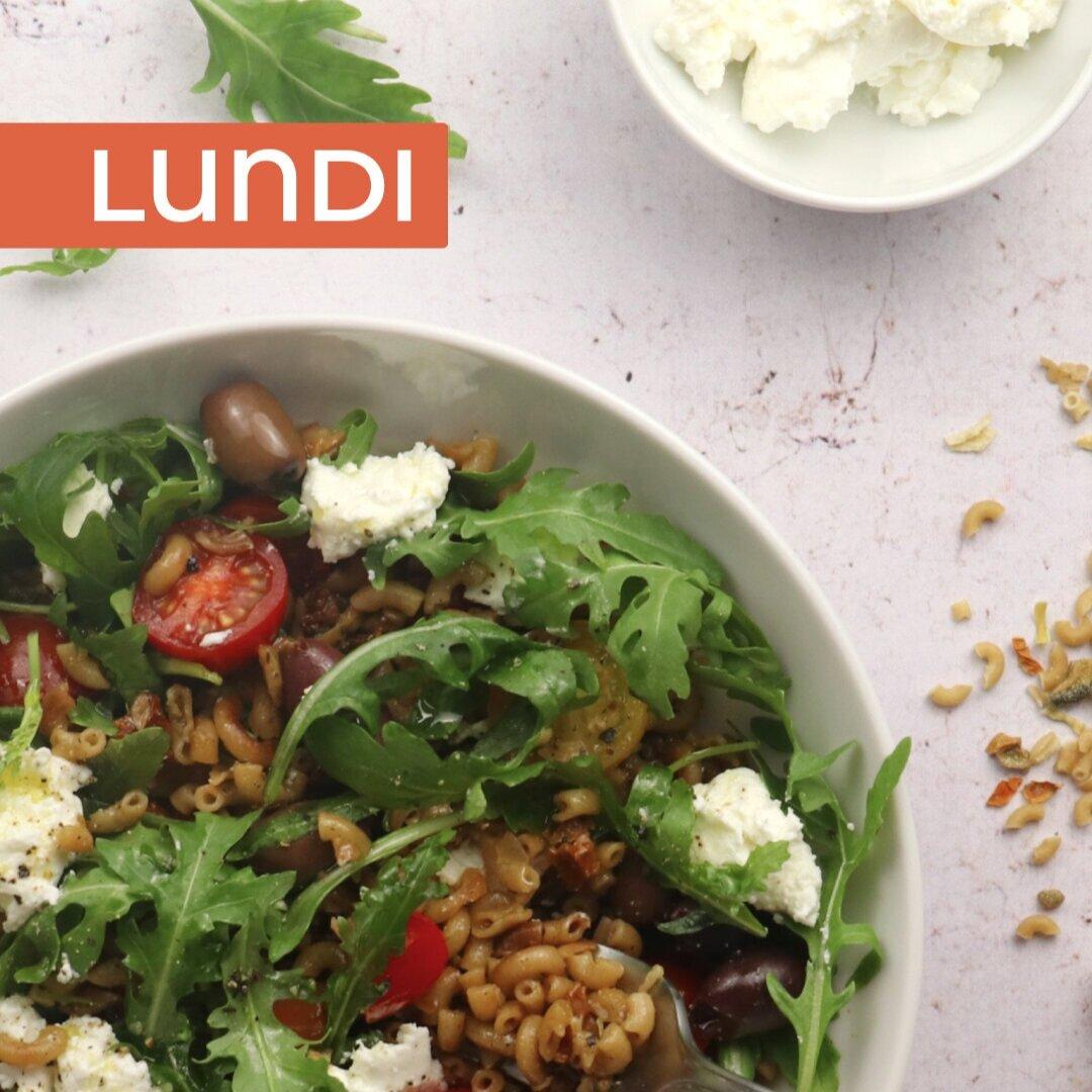 Salade de coquillettes méditerranéenne - Le réconfort des coquillettes dans une salade pleine de fraîcheur