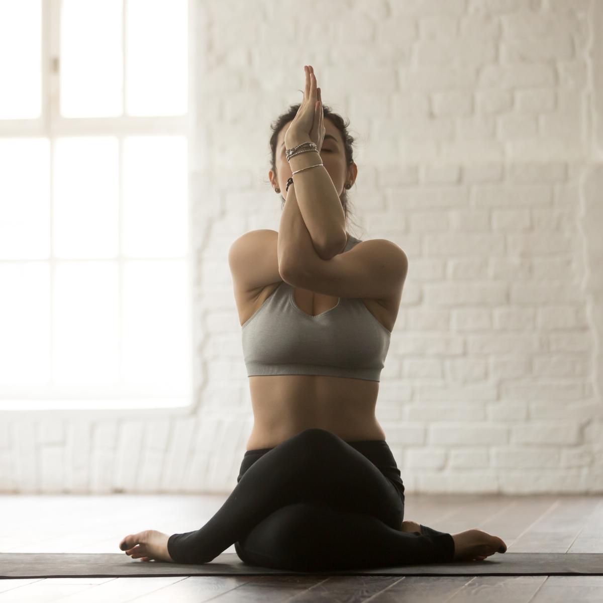Gomukasana yoga posture
