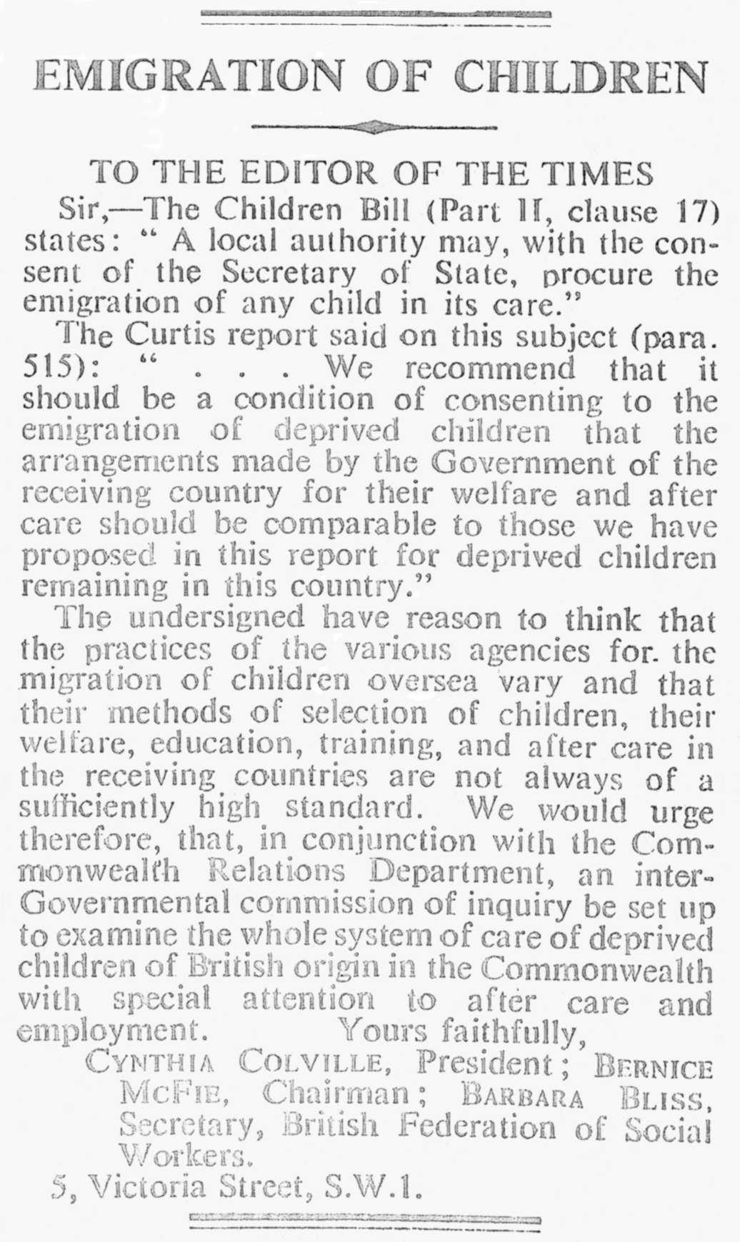 1948  Mar 24th Letter to The Times.jpg
