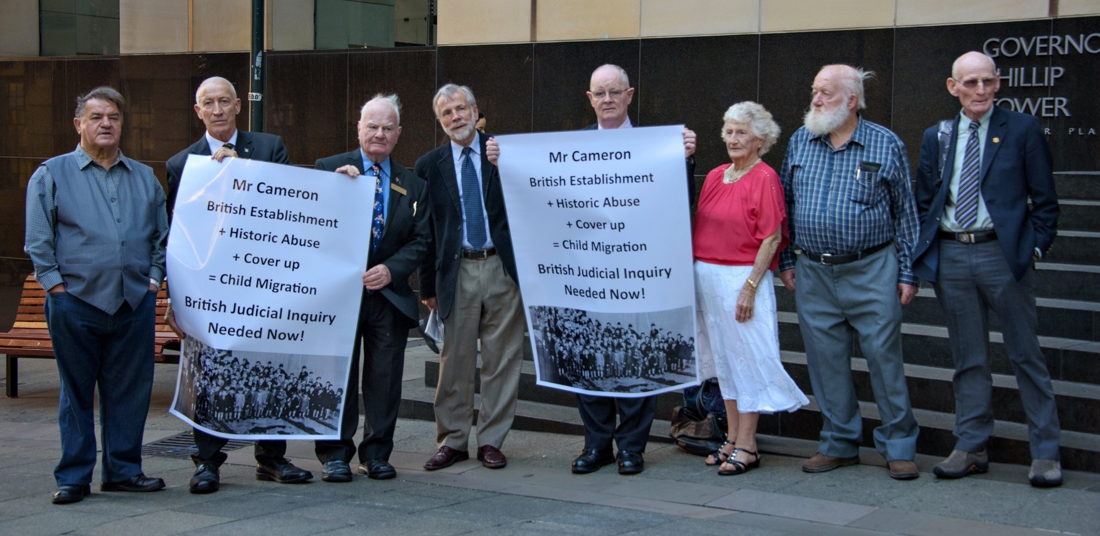 26th March 2015 - Former Child Migrants gather for the Royal Commission hearings in Sydney