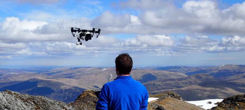 Mountain drone filming for a corporate film.