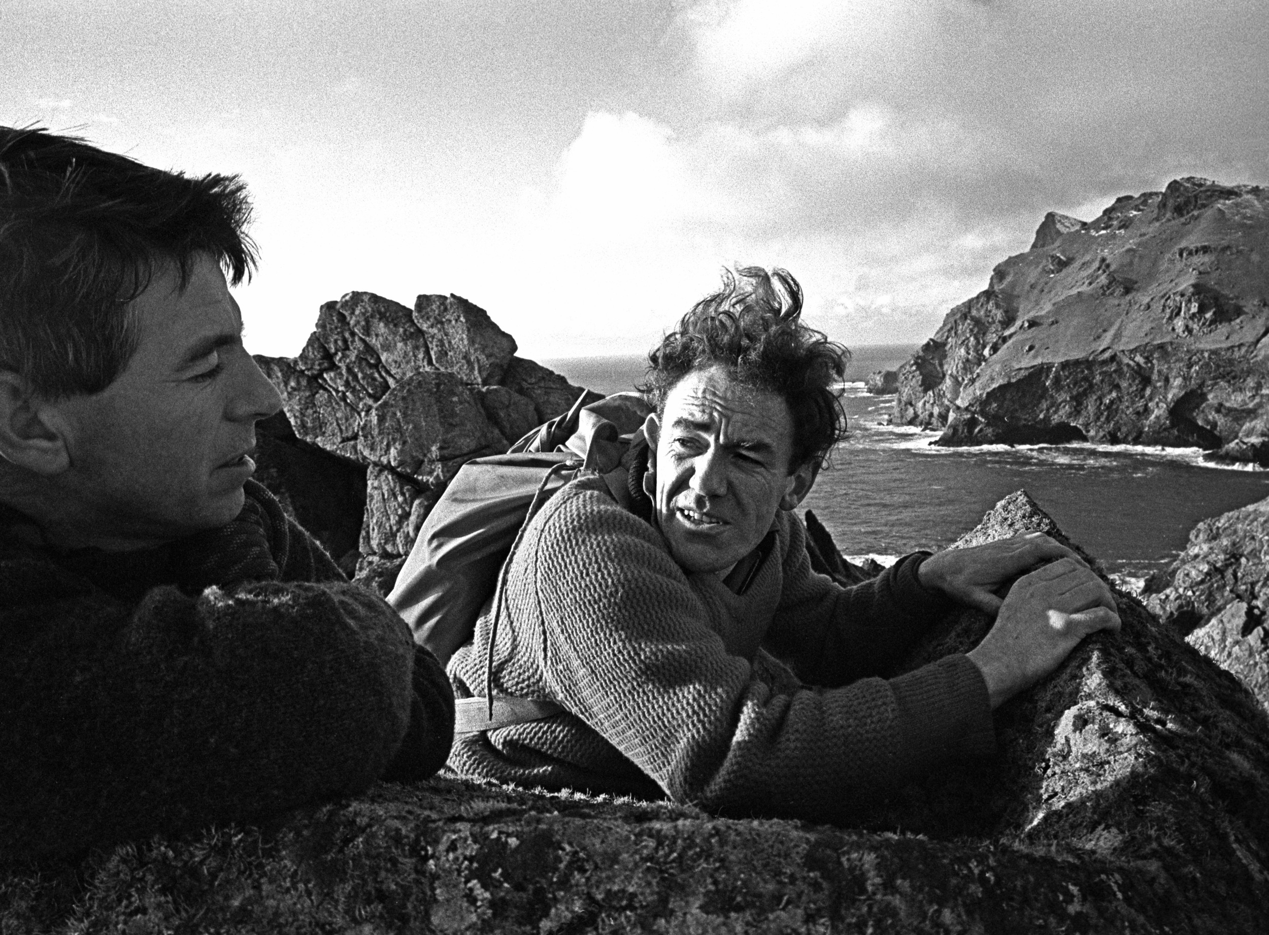 Joe Brown and Tom Patey, St Kilda, picture by John Cleare