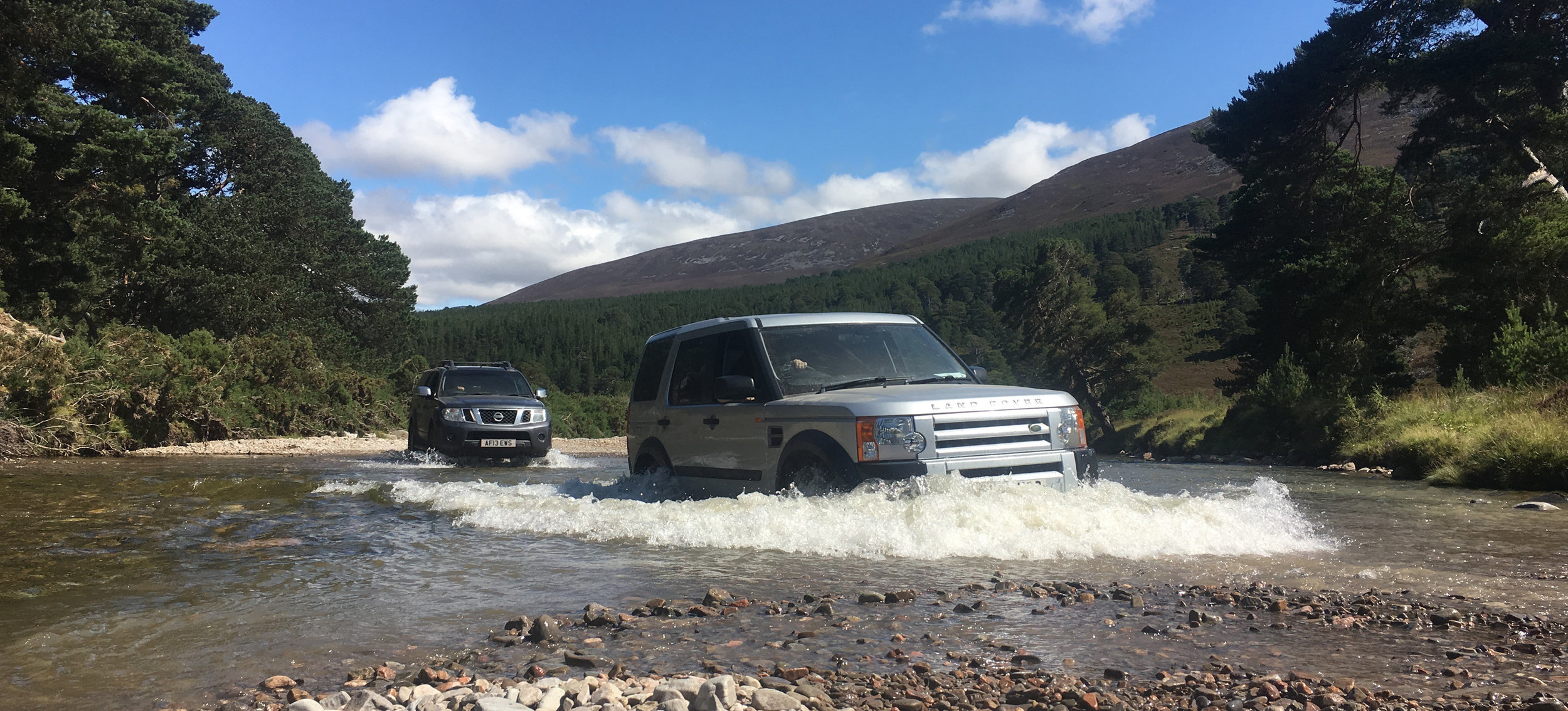 We had quite a few land rovers and they were needed:)